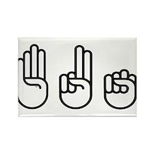 420 fingers Rectangle Magnet
