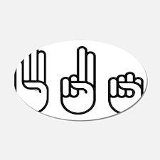 420 fingers Wall Sticker