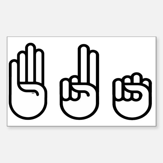420 fingers Decal