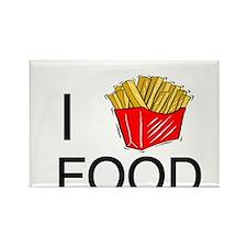 I Heart Food Rectangle Magnet