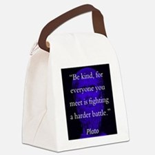 Be Kind - Plato Canvas Lunch Bag