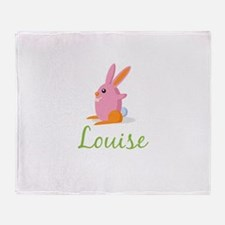 Easter Bunny Louise Throw Blanket