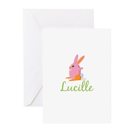 Easter Bunny Lucille Greeting Cards (Pk of 10)