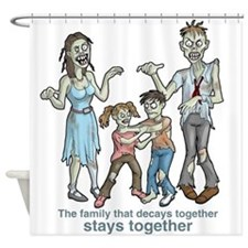 Zombies: Family Decay Shower Curtain