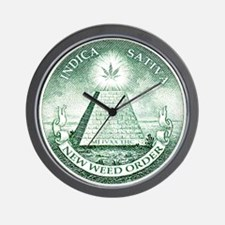 New Weed Order by mouseman Wall Clock