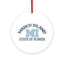 Marco Island - Varsity Design. Ornament (Round)