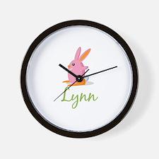Easter Bunny Lynn Wall Clock