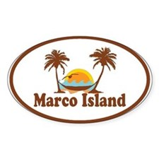 Marco Island - Palm Trees Design. Decal