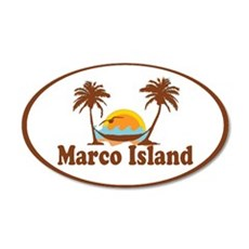 Marco Island - Palm Trees Design. Wall Decal