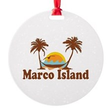 Marco Island - Palm Trees Design. Ornament