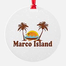 Marco Island - Palm Trees Design. Ornament