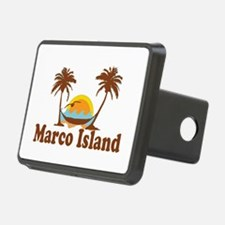 Marco Island - Palm Trees Design. Hitch Cover