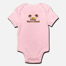 Marco Island - Palm Trees Design. Infant Bodysuit