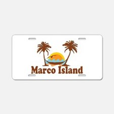 Marco Island - Palm Trees Design. Aluminum License