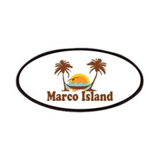 Marco Island - Palm Trees Design. Patches