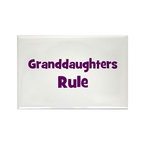 granddaughters rule Rectangle Magnet (10 pack)