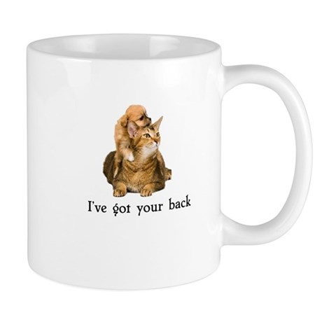 ive got your back cute puppy cat kitty Mug