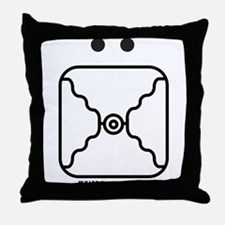 WHITE Lunar MIRROR Throw Pillow
