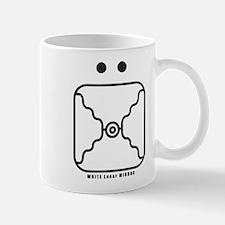 WHITE Lunar MIRROR Mug