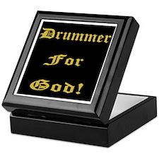 Christian Drummer For God Keepsake Box