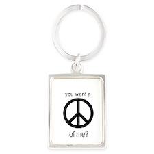 Peace by Piece Portrait Keychain