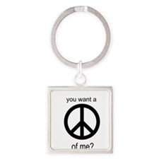 Peace by Piece Square Keychain
