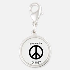 Peace by Piece Silver Round Charm