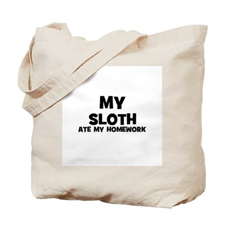 My Sloth Ate My Homework Tote Bag