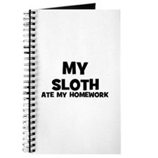 My Sloth Ate My Homework Journal