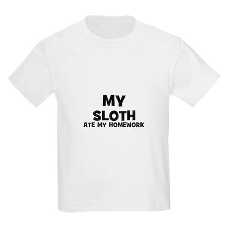 My Sloth Ate My Homework Kids T-Shirt