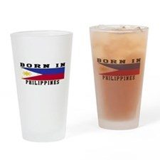 Born In Philippines Drinking Glass
