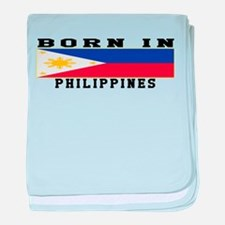 Born In Philippines baby blanket