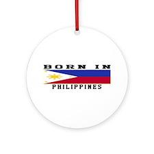 Born In Philippines Ornament (Round)