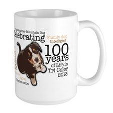 Entlebuchers - 100 Years of Life in Tri color Mug