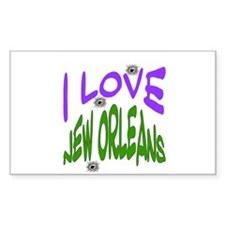 New Orleans Bullet Holes Rectangle Stickers