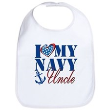 I Love My Navy Uncle Bib