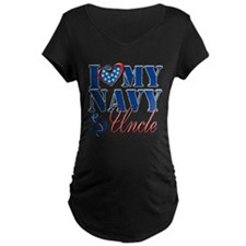 I Love My Navy Uncle Maternity T-Shirt