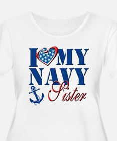 I Love My Navy Sister Plus Size T-Shirt