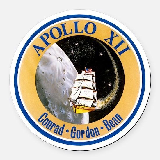 Apollo 12 Round Car Magnet