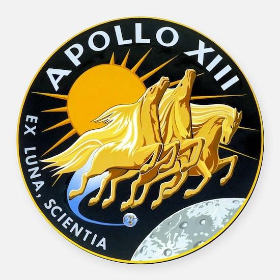 Apollo 13 Round Car Magnet