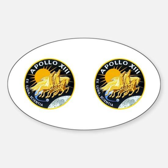 Apollo 13 Sticker (Oval)