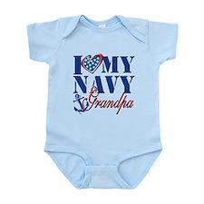 I Love My Navy Grandpa Body Suit