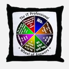 Cute Geeks technology Throw Pillow