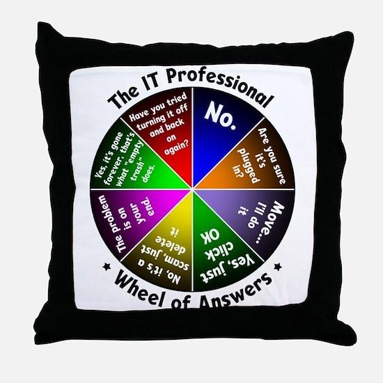 Cute Geek Throw Pillow