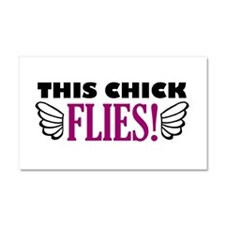 'This Chick Flies!' Car Magnet 20 x 12