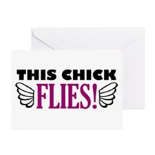 'This Chick Flies!' Greeting Card