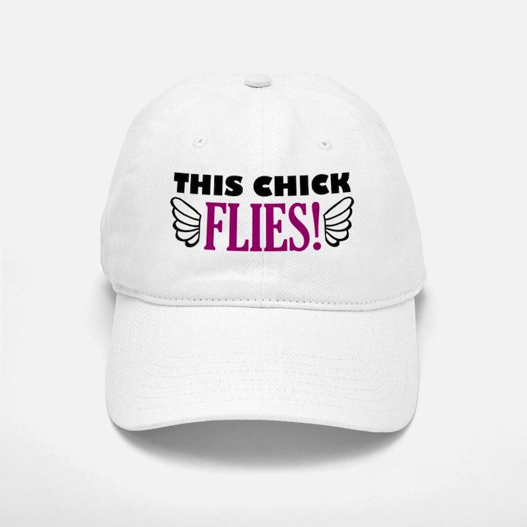 'This Chick Flies!' Baseball Baseball Cap