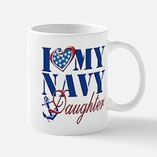 I Love My Navy Daughter Mug
