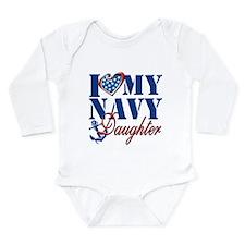 I Love My Navy Daughter Body Suit