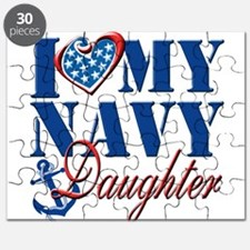 I Love My Navy Daughter Puzzle